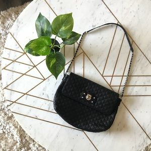 Marc Jacobs quilted leather handbag purse black